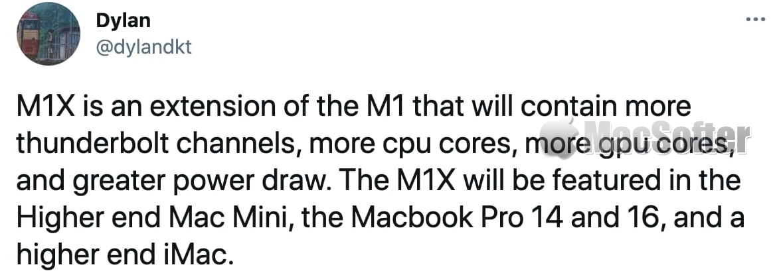 M1X MacBook Pro和Mac mini什么时候发布:今年第四季度