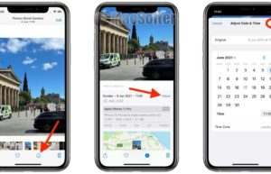 iOS 15可修改拍摄照片的日期和时间