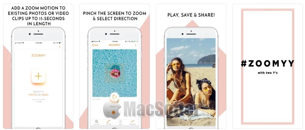 [iPhone/iPad限免] Zoom Effects :为Instagram设计的视频剪辑软件