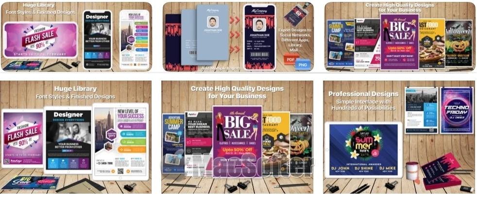 [iPhone/iPad限免] 设计与传单创作者 :海报、邀请函、传单设计制作工具
