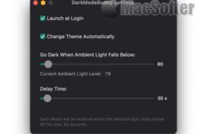[Mac] DarkModeBuddy : 让Mac根据光线强度自动切换深色或浅色模式
