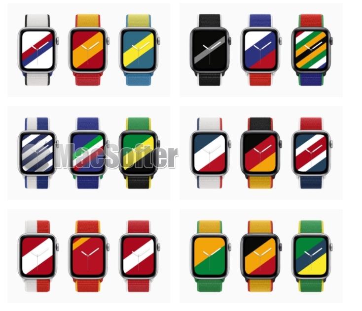 展示爱国的热情的Apple Watch国际系列表带22国齐发