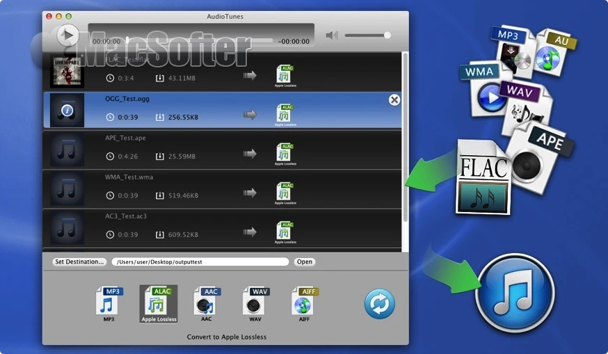 [Mac] AudioTunes :Mac的音频格式转换器