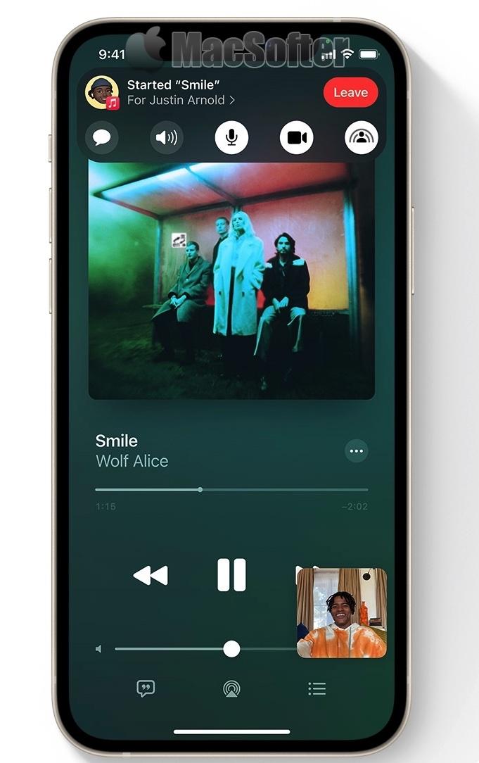 SharePlay功能出现在iOS 15 Beta中