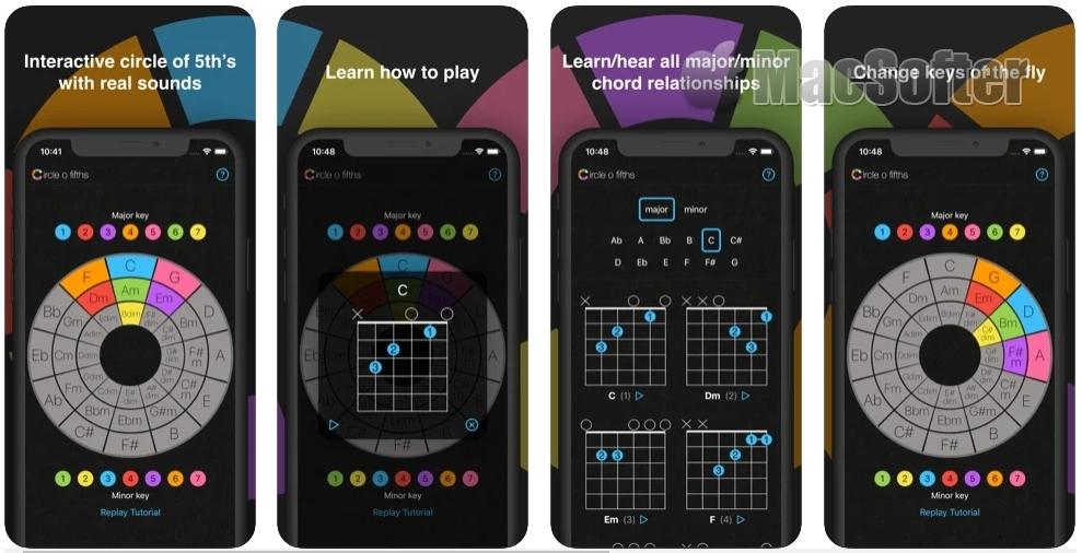 [iPhone/iPad限免] Circle o Fifths :五度圈吉他学习软件