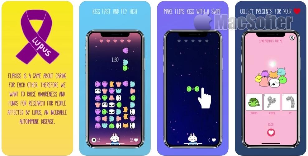 [iPhone/iPad限免] Flipkiss :卡通头像风格消除游戏