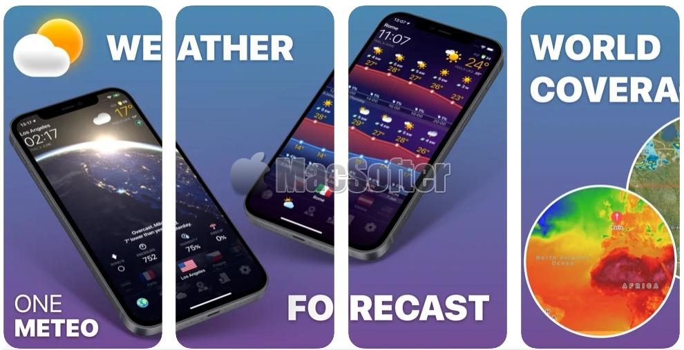 [iPhone/iPad限免] ONE METEO :好用的天气预报软件