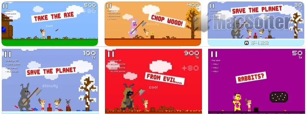 [iPhone/iPad限免] Super Lumberjack : 像素画风的节奏游戏