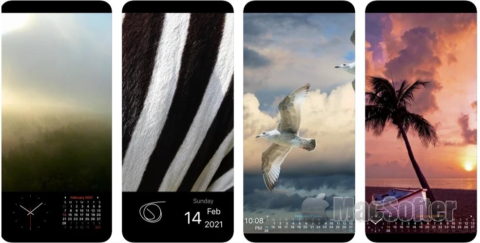[iPhone/iPad限免] Photo Frame Calendar & Clock :带有照片播放功能的日历及时钟工具