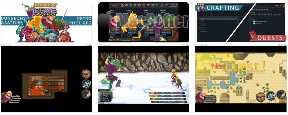 [iPhone/iPad限免] The Legend of Ipsae - RPG : 魔法世界RPG游戏