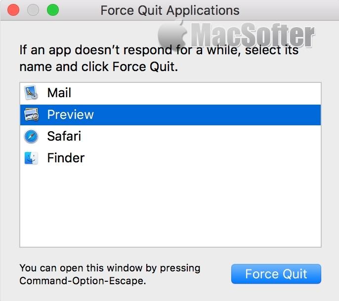 如何在Mac上强制关闭退出App? Mac强制退出关闭App教程