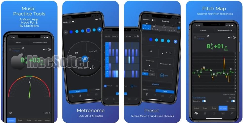 [iPhone/iPad限免] Practica :调音器和节拍器工具