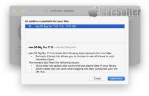 macOS Big Sur 11.5开放更新 : Podcast 升级和修复错误