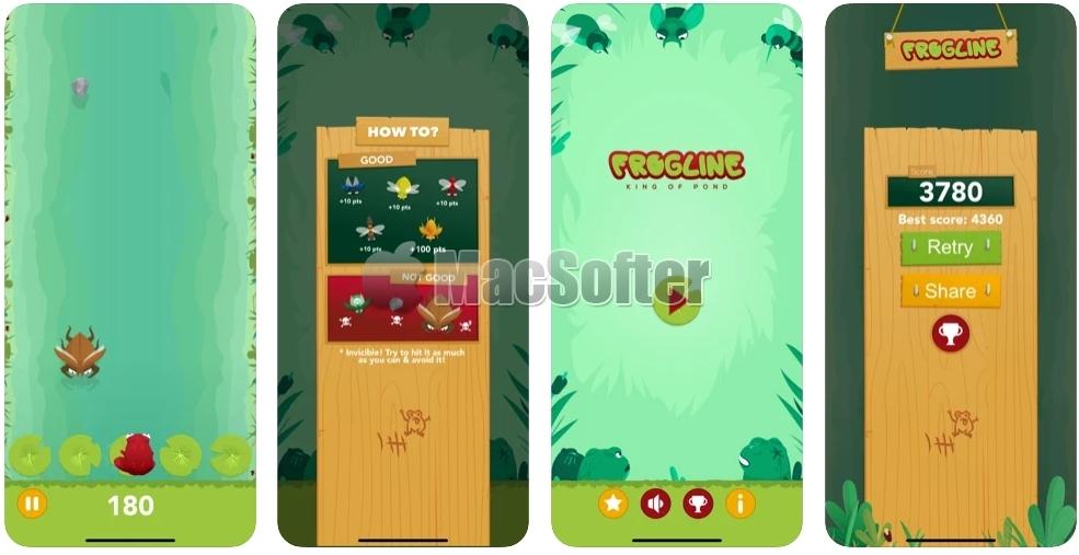 [iPhone/iPad限免] Frogline :小青蛙抓虫游戏