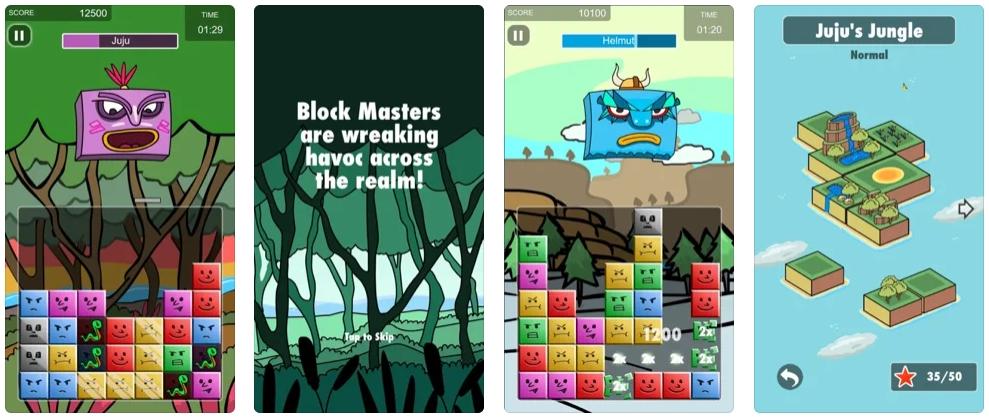 [iPhone限免] Mighty Block :方块王国主题消除游戏