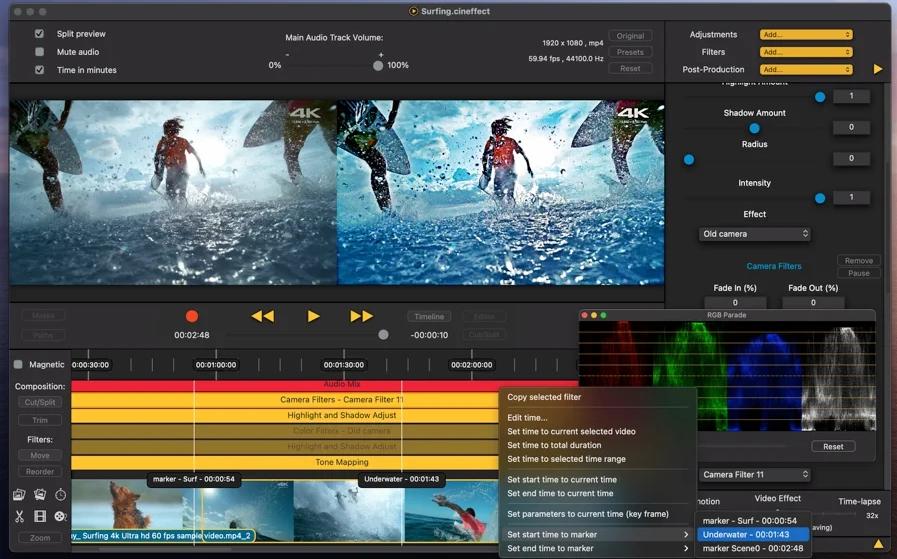 [Mac限免] Cinema Effects: Video Studio - Mac的视频编辑处理工具