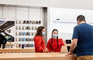 最新消息称苹果要求Apple Store员工和顾客都要戴口罩