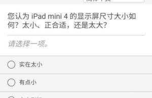 苹果向公众发出iPad mini问卷调查:屏幕尺寸、iPadOS满意度