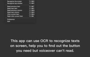 [Mac] 鱼鱼读屏 : Mac上的为视障者设计的OCR读屏工具