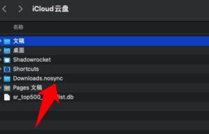 苹果iCloud Drive云盘不同步指定的某个文件夹的方法