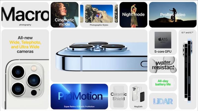 全新iPhone 13 Pro和iPhone 13 Pro Max发布:iPhone 13 Pro和iPhone 13 Pro Max新功能一览