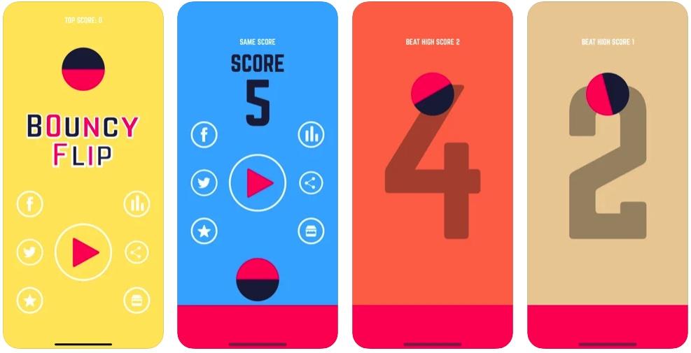[iPhone/iPad限免] Bouncy Flip : 耐玩的弹球游戏