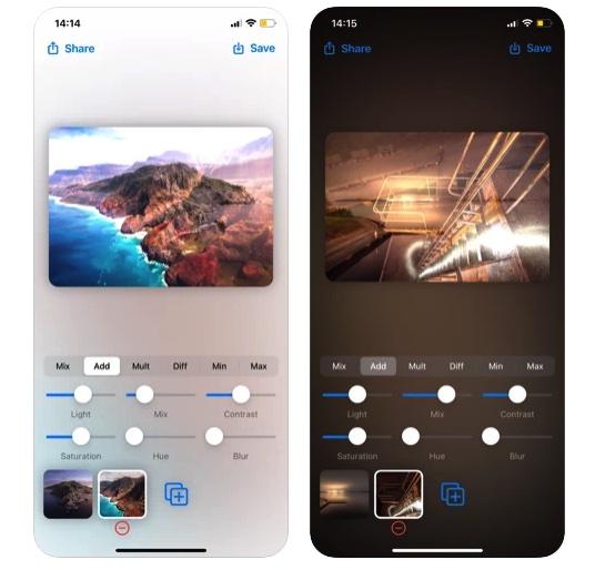 [iPhone/iPad限免] Photo Blends :酷炫的照片特效处理工具