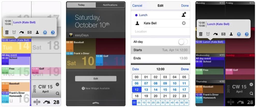 [iPhone限免] easyDays :好用的日历软件