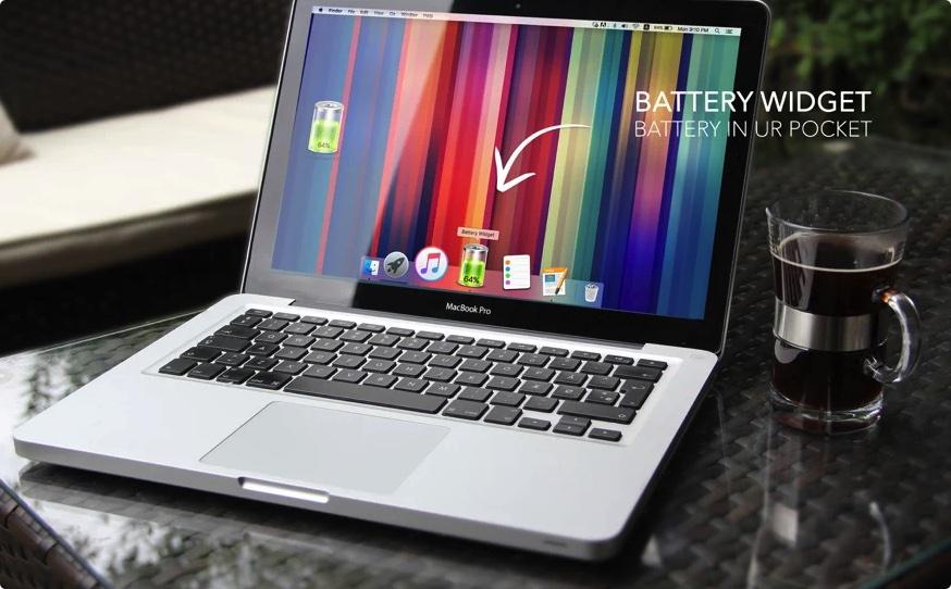 [Mac限免] Battery Widget :支持Dock工具栏显示电池电量的工具