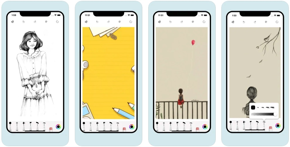 [iPhone/iPad限免] PaintHi :素描绘画软件