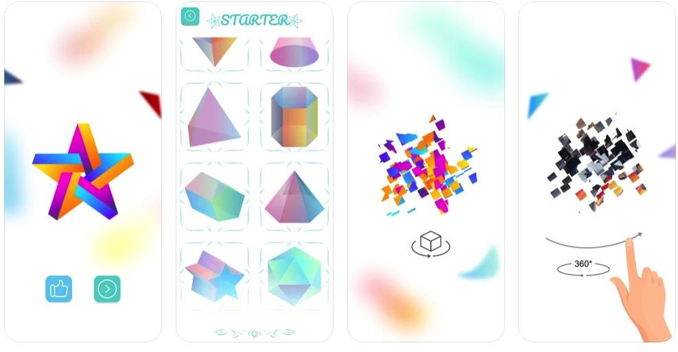 [iPhone/iPad限免] Palorama :3D几何拼图解谜游戏