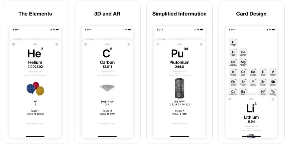 [iPhone/iPad限免] ElementCard :元素周期表工具