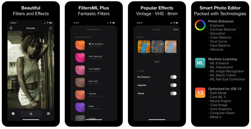 [iPhone限免] photoML enhancer :照片滤镜特效编辑处理工具