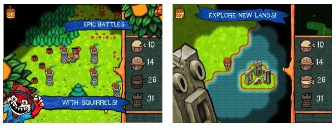 [iPhone/iPad限免] SquirrelWarz : 小松鼠大作战即时战略游戏