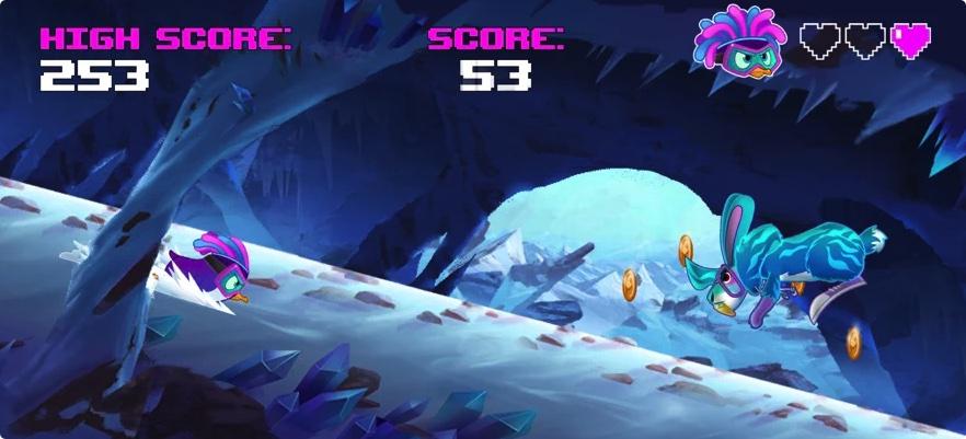 [iPhone限免] Super Ice Slider :街机风格的跑酷游戏