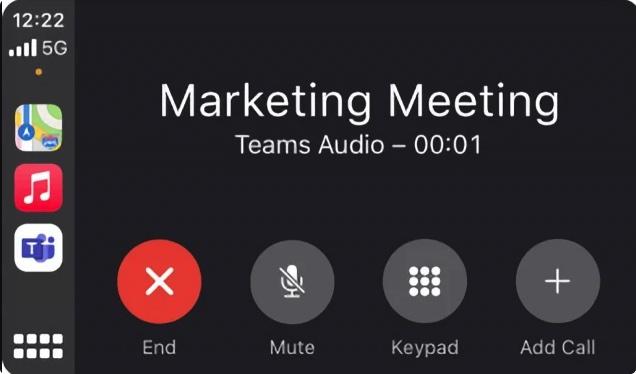 Microsoft Teams支持苹果CarPlar :车上进行团队通话