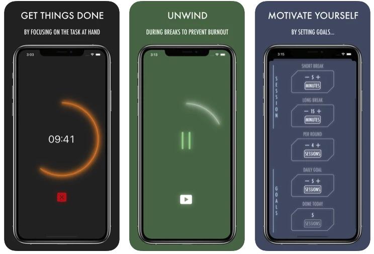 [iPhone/iPad限免] Energize Focus Timer :专注任务的番茄钟软件