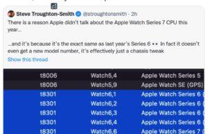 Apple Watch Series 7处理器确认:与上一代完全相同