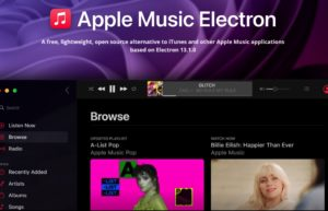 Apple Music Electron :可跨平台的非官方版Apple Music