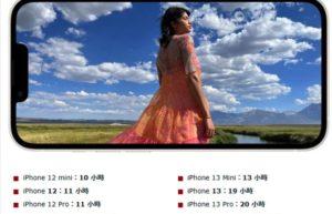 iPhone 13电池续航大跃进:最长可多追剧13小时