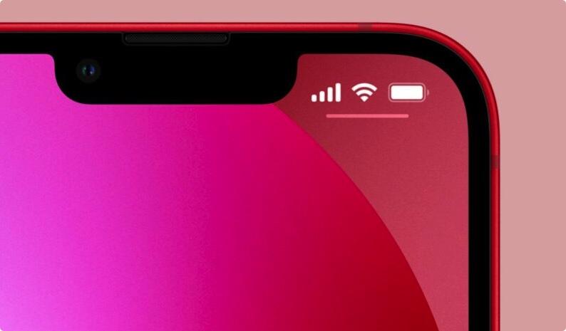 刘海缩小了的iPhone 13仍无法在状态列显示电池百分比