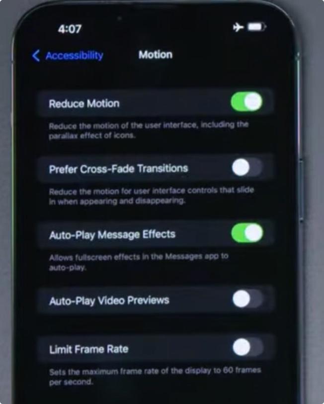 担心iPhone 13 Pro 120Hz高刷耗电?iOS可以手动限制