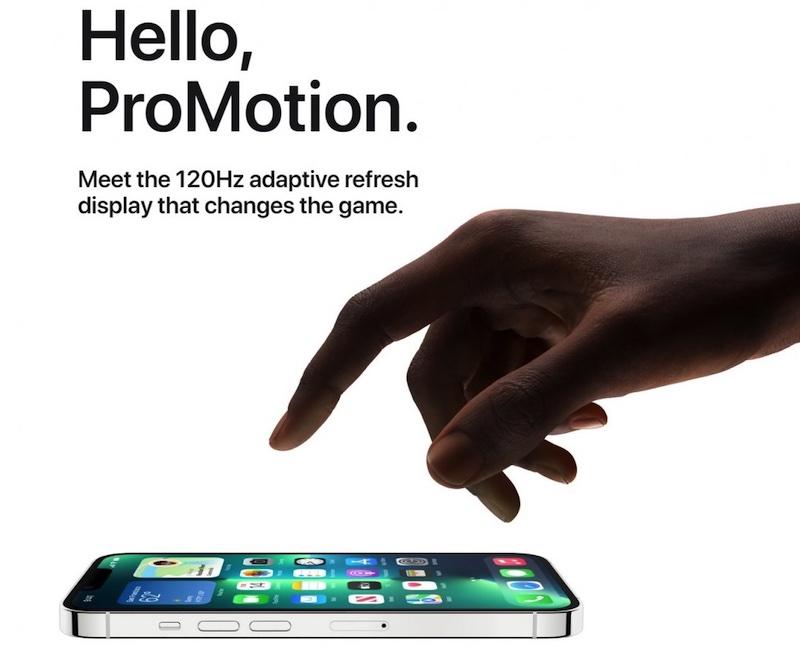 苹果称第三方Apps将可用使用120Hz高刷