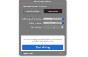 [Mac] Mouse Clicker & Shaker : 鼠标定期自动点击及自动晃动工具