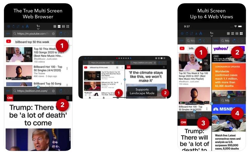 [iPhone/iPad限免] Dual :多屏网页浏览器
