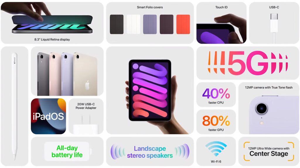 全新设计iPad mini 6登场:8.3寸屏屏幕电源键Touch ID