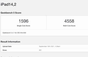 iPad mini 6 Geekbench跑分不及iPhone 13 Pro:A15被降速吗?
