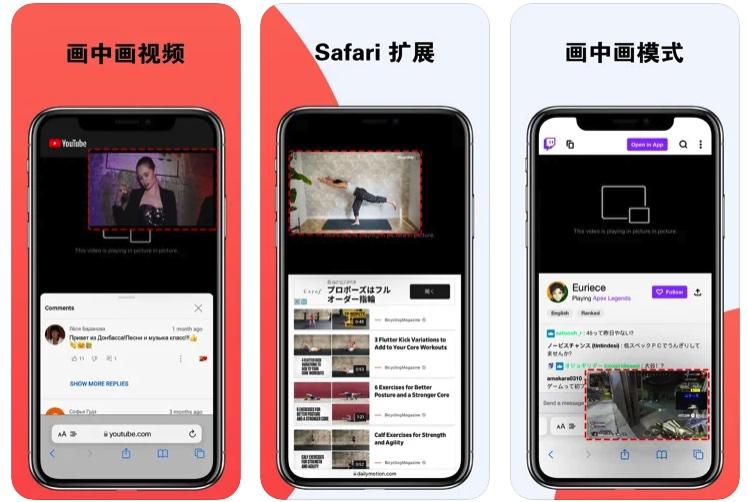 [iPhone/iPad限免] 画中画视频 :safari浏览器视频画中画扩展