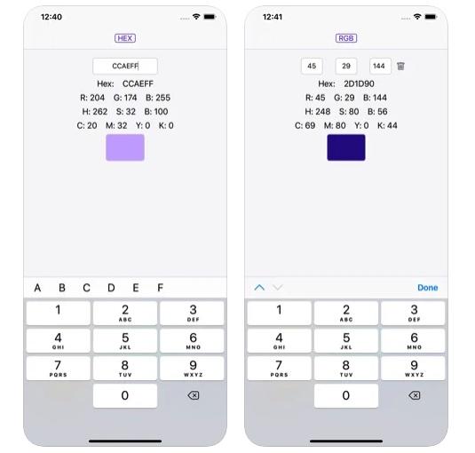 [iPhone/iPad限免] 色彩专家 :RGB/HEX/CMYK/HSB全格式颜色色值转换器