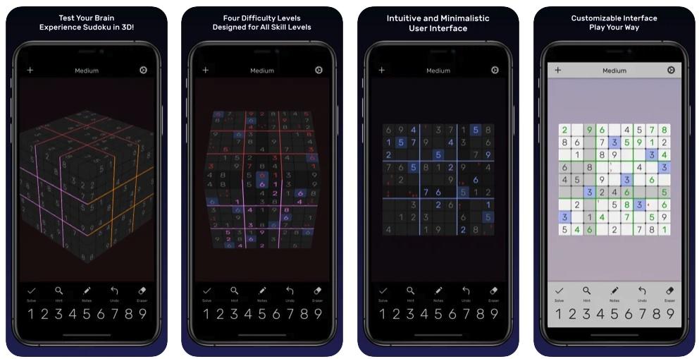 [iPhone/iPad限免] Sudoku Evolved :3D版数独游戏